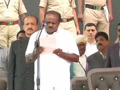 HDK takes oath amid opposition show of strength